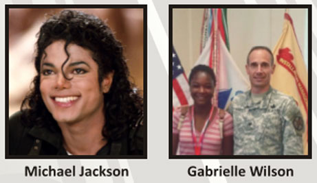 Michael Jackson and Gabrielle Wilson
